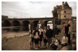 Les Canadiens au Pont Henri IV, Châtellerault
