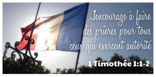 1 Timothée 1:1-2, Prière, prière pour autorités, politiciens en France, France, Châtellerault, Église Pentecôtiste Unie