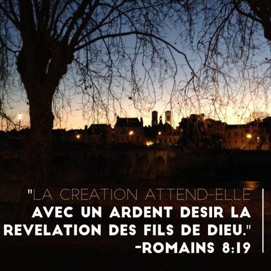 Romains 8:19, église protestante, pentecôtiste, Châtellerault
